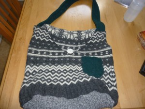 Felted messenger bag
