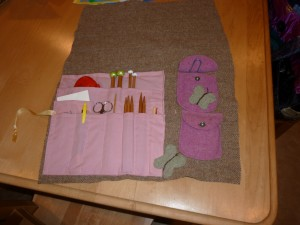 felted knitting essentials case
