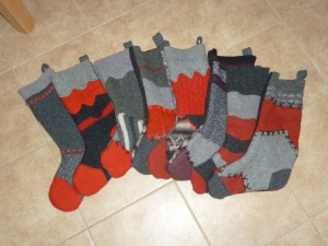 Felted Christmas sockings