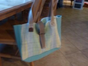 Tan place mat bag