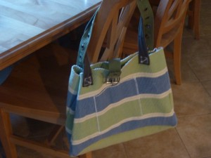 Green handled placemate bag