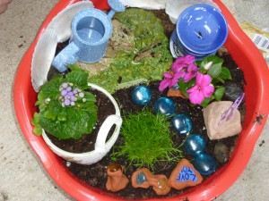 A girl's garden