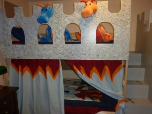 Front of bunk bed